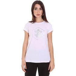Textil Ženy Trička s krátkým rukávem Lumberjack CW60343 015EU Bílý