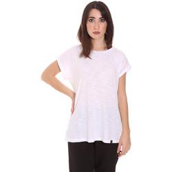 Textil Ženy Trička s krátkým rukávem Lumberjack CW60343 011EU Bílý
