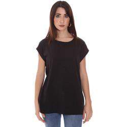 Textil Ženy Trička s krátkým rukávem Lumberjack CW60343 011EU Černá
