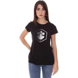 Textil Ženy Trička s krátkým rukávem Lumberjack CW60343 015EU Černá