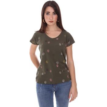 Textil Ženy Trička s krátkým rukávem Lumberjack CW60343 013EU Zelený
