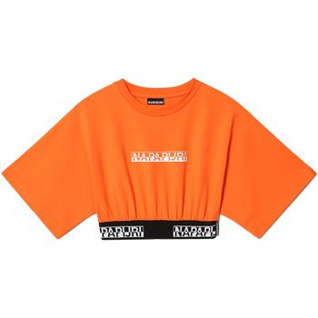 Textil Ženy Trička s krátkým rukávem Napapijri NP0A4FHH Oranžový