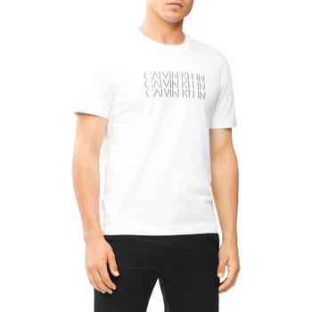 Textil Muži Trička s krátkým rukávem Calvin Klein Jeans K10K107158 Bílý