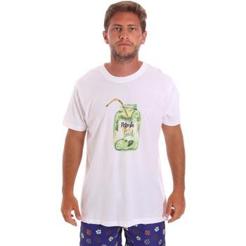 Textil Muži Trička s krátkým rukávem F * * K  Bílý