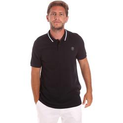Textil Muži Polo s krátkými rukávy Roberto Cavalli FST693 Černá
