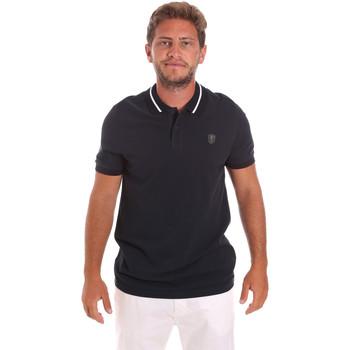Textil Muži Polo s krátkými rukávy Roberto Cavalli FST693 Modrý