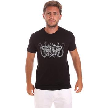 Textil Muži Trička s krátkým rukávem Roberto Cavalli HST66B Černá