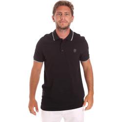 Textil Muži Polo s krátkými rukávy Roberto Cavalli FST697 Černá