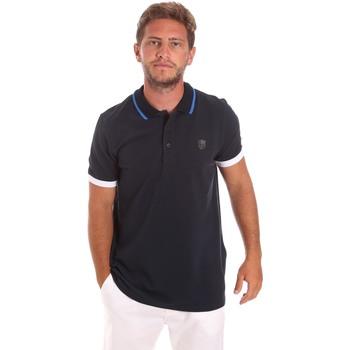 Textil Muži Polo s krátkými rukávy Roberto Cavalli FST692 Modrý