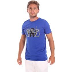 Textil Muži Trička s krátkým rukávem Roberto Cavalli HST66B Modrý