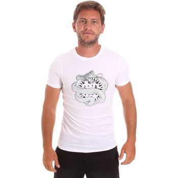 Textil Muži Trička s krátkým rukávem Roberto Cavalli HST64B Bílý