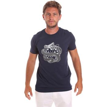 Textil Muži Trička s krátkým rukávem Roberto Cavalli HST64B Modrý