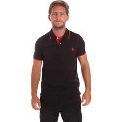 Textil Muži Polo s krátkými rukávy U.S Polo Assn. 51139 49785 Černá