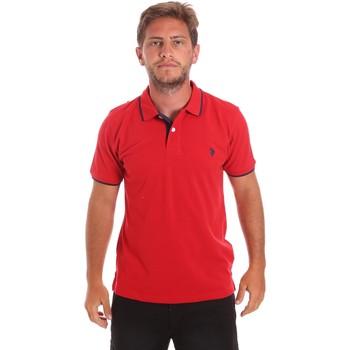 Textil Muži Polo s krátkými rukávy U.S Polo Assn. 51139 49785 Červené