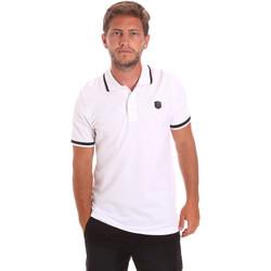 Textil Muži Polo s krátkými rukávy Roberto Cavalli FST697 Bílý