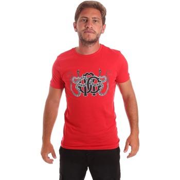 Textil Muži Trička s krátkým rukávem Roberto Cavalli HST66B Červené