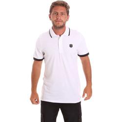 Textil Muži Polo s krátkými rukávy Roberto Cavalli FST692 Bílý