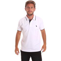 Textil Muži Polo s krátkými rukávy U.S Polo Assn. 51139 49785 Bílý