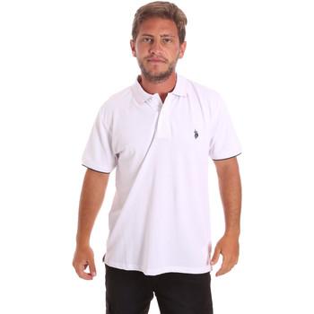 Textil Muži Polo s krátkými rukávy U.S Polo Assn. 51140 41029 Bílý