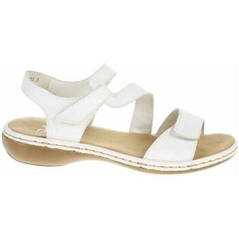 Boty Ženy Sandály Rieker 659C780 Bílé