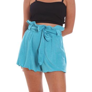 Textil Ženy Kraťasy / Bermudy F * * K  Modrý