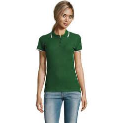 Textil Ženy Polo s krátkými rukávy Sols PRACTICE POLO MUJER Verde