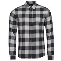 Textil Muži Košile s dlouhymi rukávy Only & Sons  ONSGUDMUND Černá / Bílá