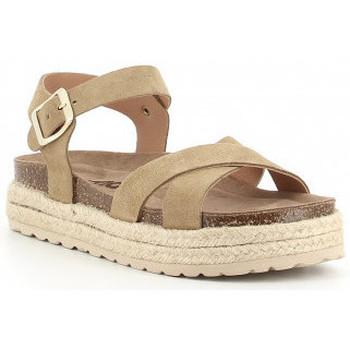 Boty Dívčí Sandály Obi Shoes PALA CRUZADA Beige