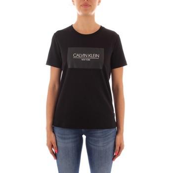 Textil Ženy Trička s krátkým rukávem Calvin Klein Jeans K20K203256 Černá