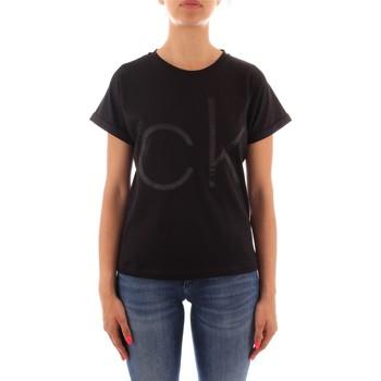 Textil Ženy Trička s krátkým rukávem Calvin Klein Jeans K20K203034 Černá