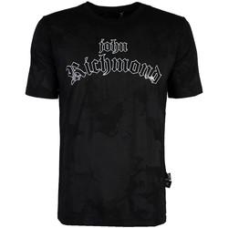 Textil Muži Trička s krátkým rukávem John Richmond  Černá
