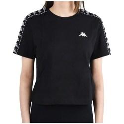 Textil Ženy Trička s krátkým rukávem Kappa Inula Tshirt Černé