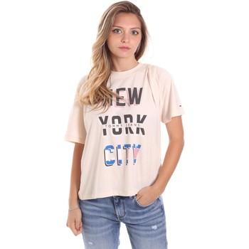 Textil Ženy Trička s krátkým rukávem Tommy Jeans DW0DW09815 Béžový