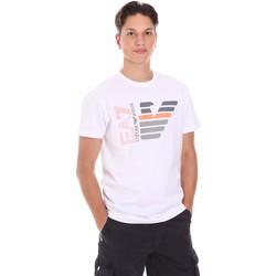Textil Muži Trička s krátkým rukávem Ea7 Emporio Armani 3KPT22 PJ6EZ Bílý