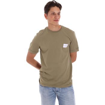 Textil Muži Trička s krátkým rukávem Calvin Klein Jeans K10K107281 Zelený