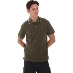 Textil Muži Polo s krátkými rukávy Museum MS21BEUPC06PT542 Zelený