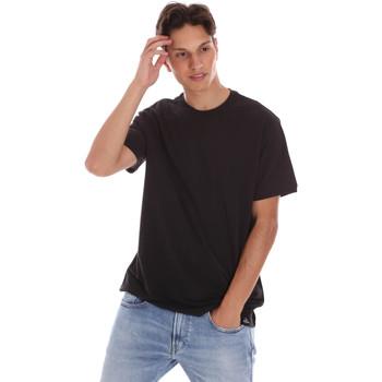Textil Muži Trička s krátkým rukávem Museum MS21BEUTC08MO938 Černá