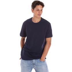 Textil Muži Trička s krátkým rukávem Museum MS21BEUTC08MO938 Modrý