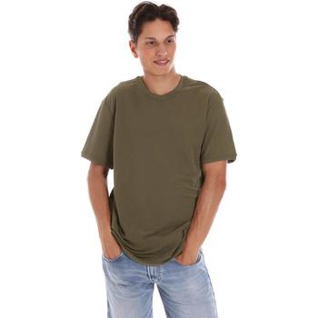 Textil Muži Trička s krátkým rukávem Museum MS21BEUTC08MO938 Zelený