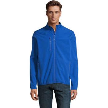 Textil Muži Větrovky Sols CHAQUETA SOFTSHELL DE HOMBRE CON CREMALLERA Azul