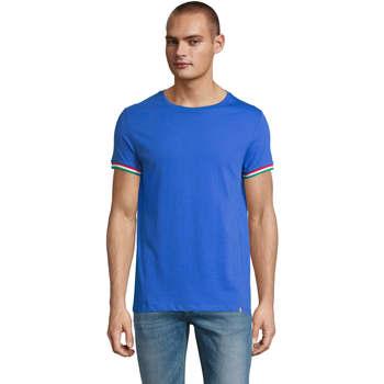 Textil Muži Trička s krátkým rukávem Sols CAMISETA MANGA CORTA RAINBOW Azul