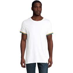 Textil Muži Trička s krátkým rukávem Sols CAMISETA MANGA CORTA RAINBOW Blanco