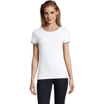 Textil Ženy Trička s krátkým rukávem Sols CAMISETA MANGA CORTA RAINBOW Blanco