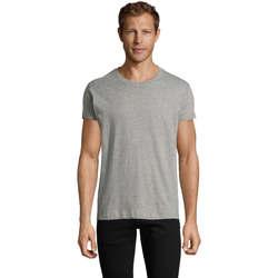 Textil Muži Trička s krátkým rukávem Sols REGENT FIT CAMISETA MANGA CORTA Gris
