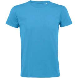 Textil Muži Trička s krátkým rukávem Sols REGENT FIT CAMISETA MANGA CORTA Azul