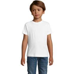 Textil Chlapecké Trička s krátkým rukávem Sols REGENT FIT CAMISETA MANGA CORTA Blanco