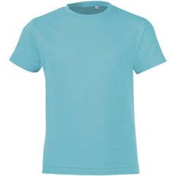Textil Chlapecké Trička s krátkým rukávem Sols REGENT FIT CAMISETA MANGA CORTA Azul