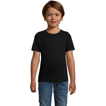 Textil Chlapecké Trička s krátkým rukávem Sols REGENT FIT CAMISETA MANGA CORTA Negro