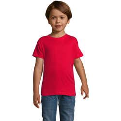 Textil Chlapecké Trička s krátkým rukávem Sols REGENT FIT CAMISETA MANGA CORTA Rojo