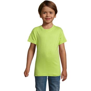 Textil Chlapecké Trička s krátkým rukávem Sols REGENT FIT CAMISETA MANGA CORTA Verde
